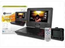 """DVD portable 7"""" c/TV + bolso (cubierta con textura)"""