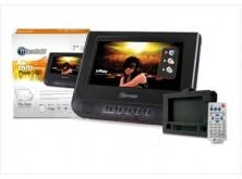 """DVD portable 7"""" para auto + funda"""
